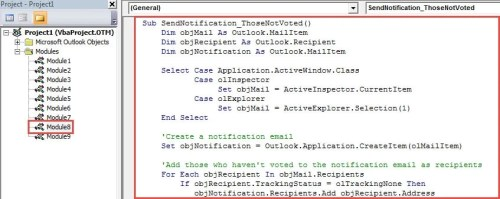 VBA Code - Send a Notification Email to Those Haven't Voted
