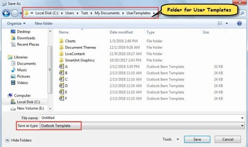 2 quick ways to batch delete all user templates in your for How to open an outlook template