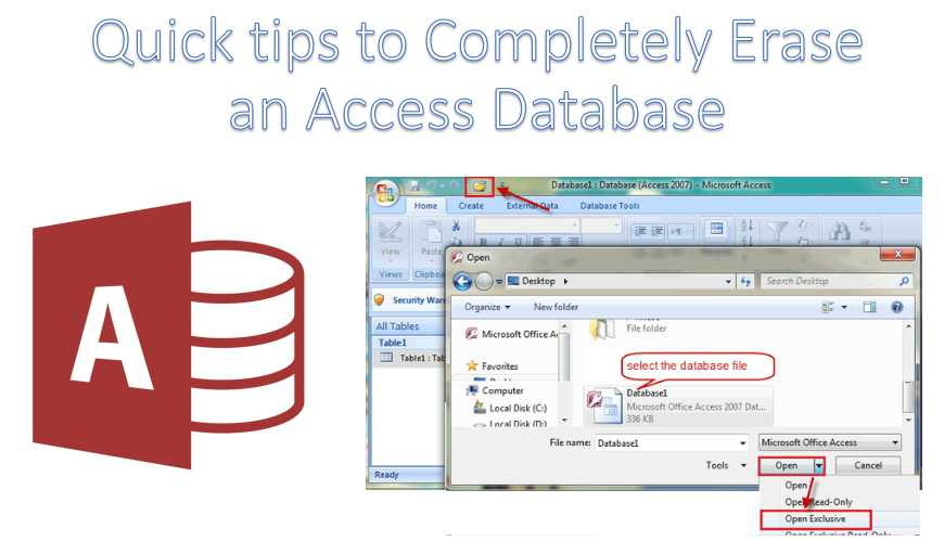 Quick Tips To Completely Erase An Access Database
