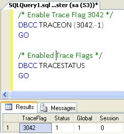 Trace Flag 3042