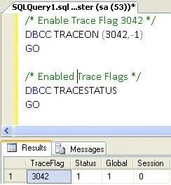 Trace Flag 3042