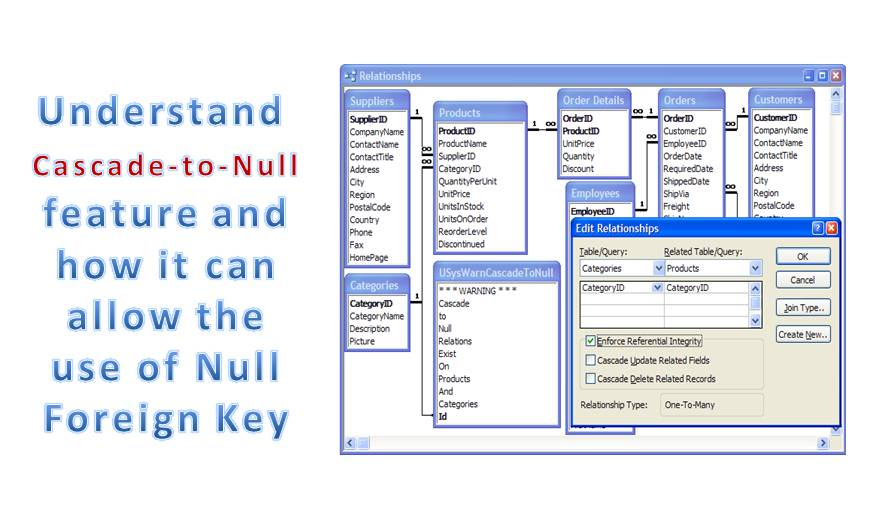 Understand The Cascade-To-Null Feature In MS Access