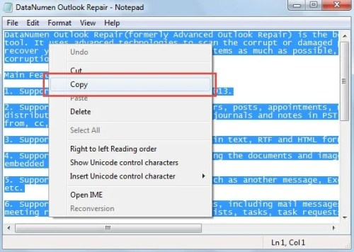 Copy Plain Text File Content