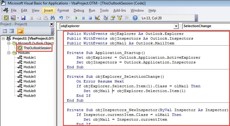 VBA Code - Customize the Flag Texts in Flagged Items