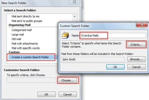 Create Custom Search Folder