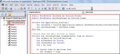 VBA Code - Auto Open All Incoming Emails from Specific Persons