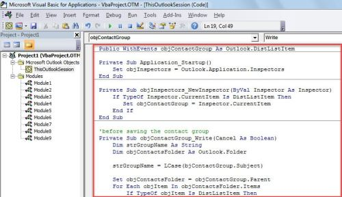 VBA Code - Get Confirmed before Saving a Contact Group with an Existing Name