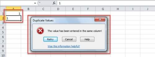 Error in Case of Duplicate Values in a Column