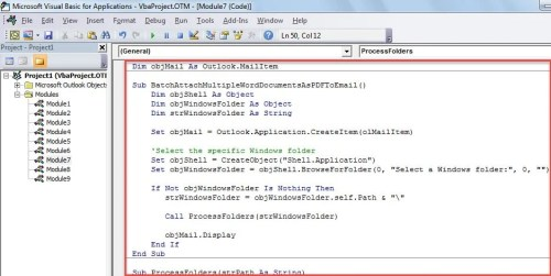 VBA Code - Batch Convert & Attach Multiple Word Documents as PDF Files to an Email