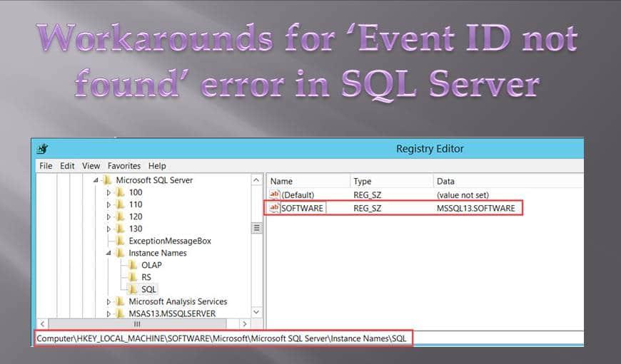 "Solve ""Event ID not found"" Error in SQL Server"