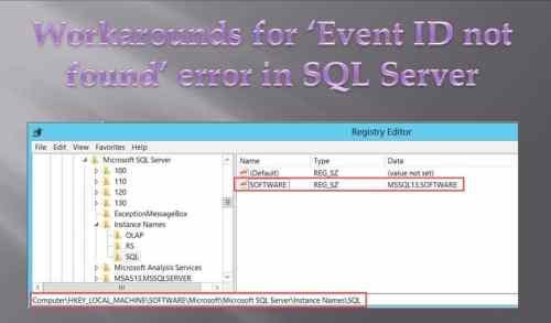 "Solve ""Event ID not found"" Error in SQL Server"