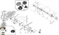 Baugruppen Motor Piaggio (nur Vergasermodell)