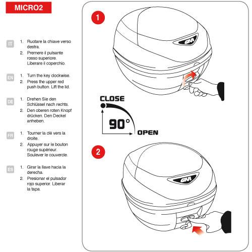 Topcase mit Platte 30l schwarz matt Rauchglas-ALG-E300NT