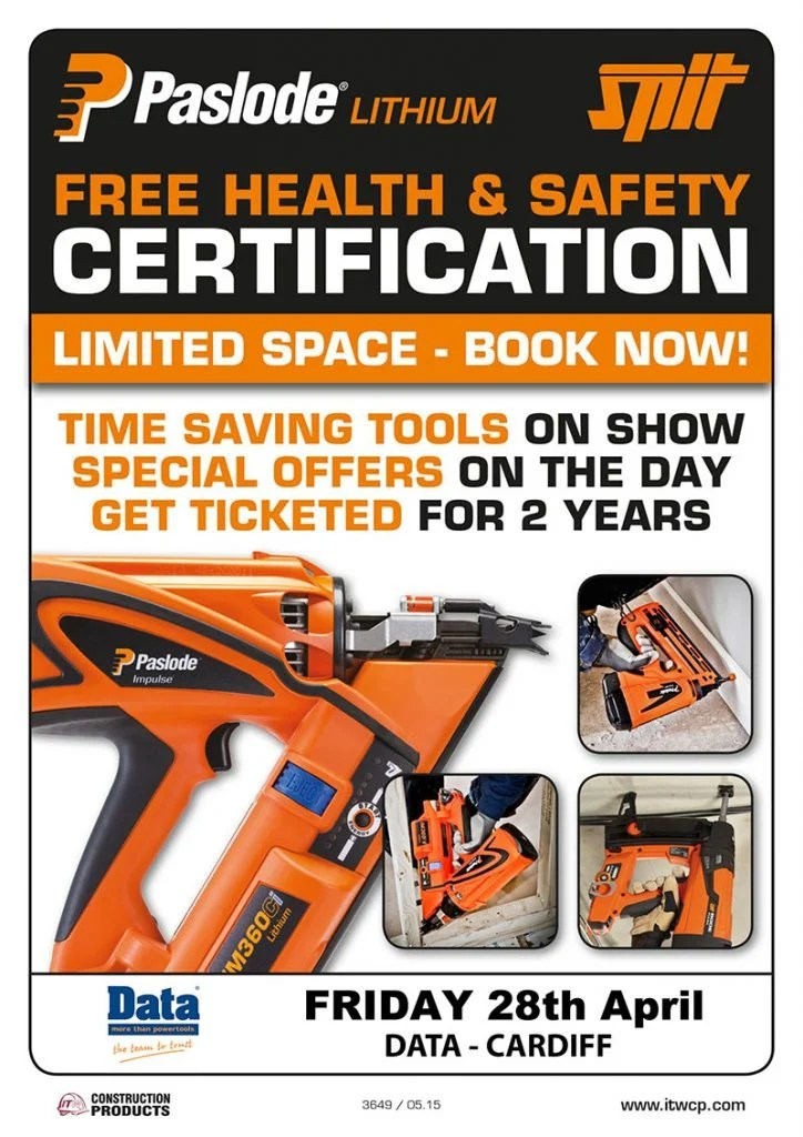 Free Health Amp Safety Certification For Paslode Nailers