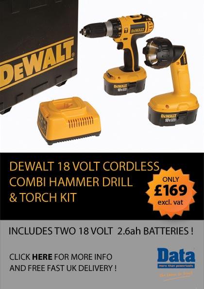 Dewalt 18 volt cordless combi hammer drill