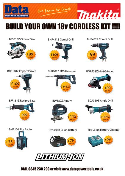 Makita Build your own cordless tool kit
