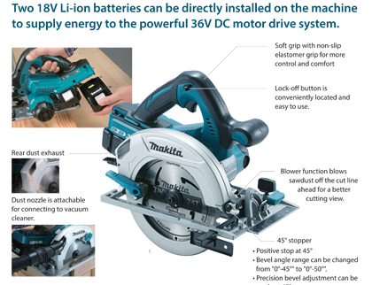 Makita DHS710 36v Circular Saw