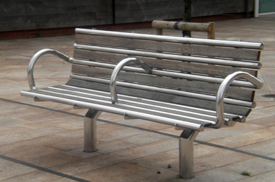 Stainless Steel Bench by Metal Masters Wales Ltd
