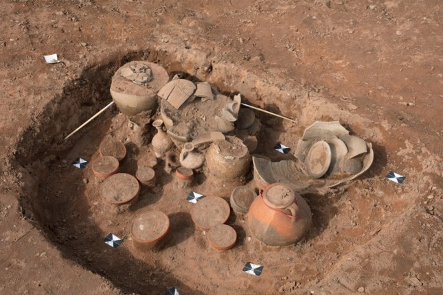 Roman Burial Urns discovered in Bagington Coventry