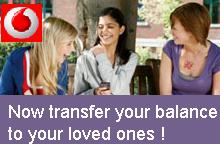 Vodafone Person-to-Person recharge service