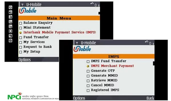 IMPS Payment Service through Mobile