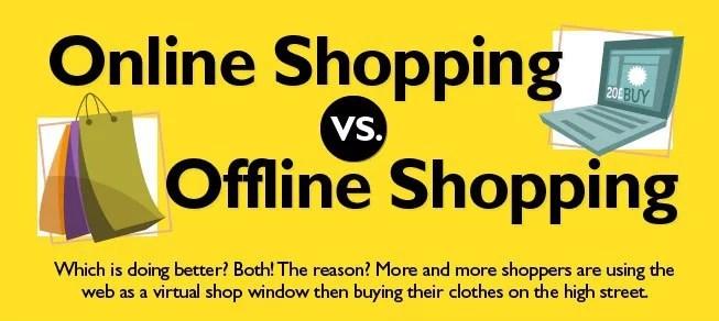online-vs-offline-shopping-infographics