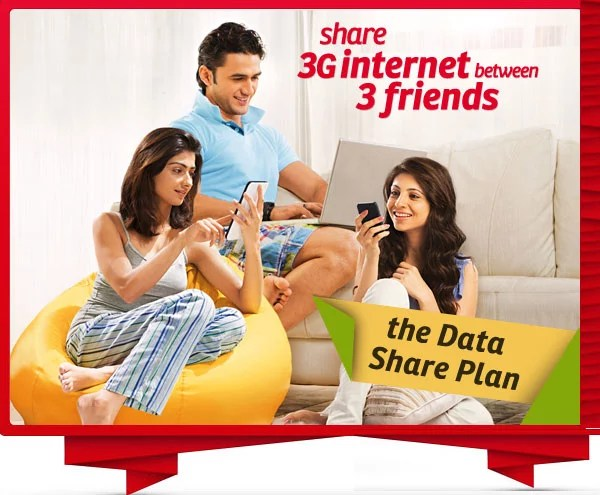 Airtel Data Sharing Plans - Share 3G Data Usage with your Friends
