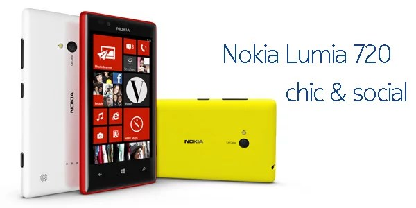 Nokia Lumia 720 windows smartphone