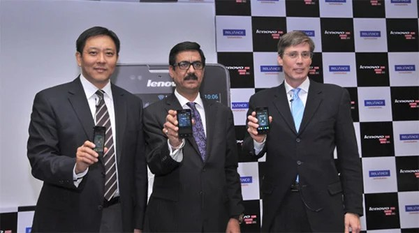 Reliance Communications Partners with Lenovo to bring Affordable CDMA/GSM Android smartphones