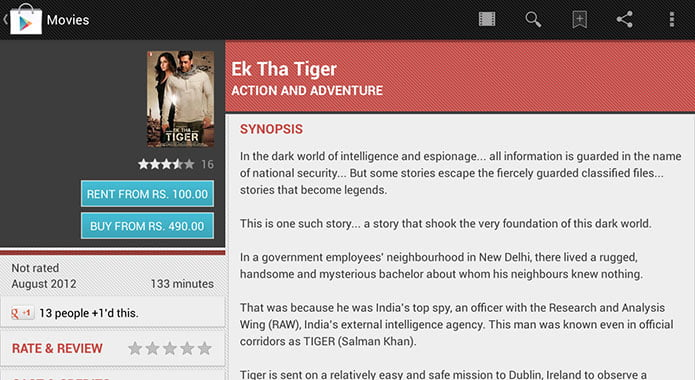Google Play Movies Bollywood Films