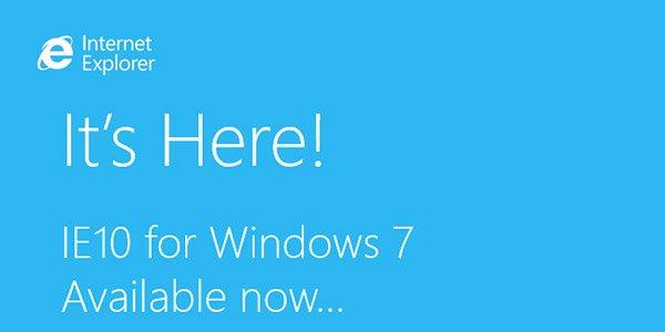 Internet Explorer 10 comes to Windows 7, At Last