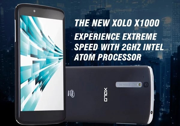 Lava launches XOLO X1000 with Powerful 2GHz Intel Atom CPU at Rs 19,999