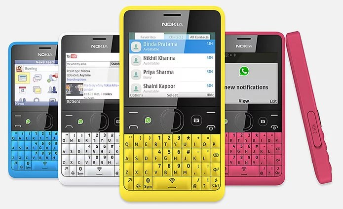 Nokia Asha 210 with dedicated WhatsApp button, QWERTY keypad and DualSIM