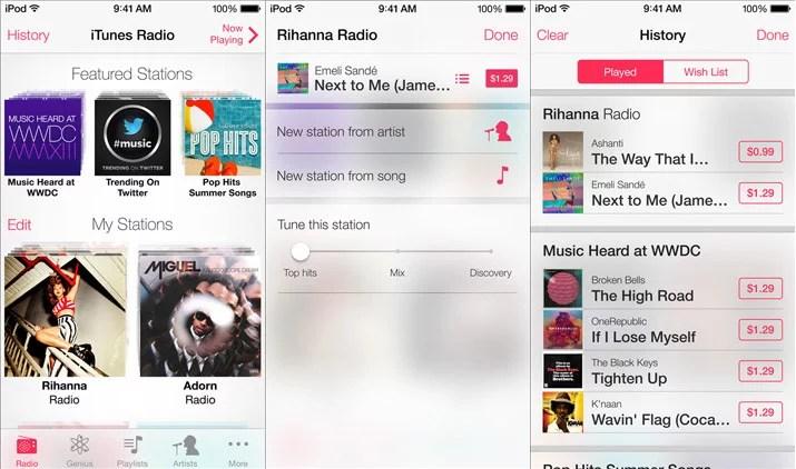 Apple iTunes Radio music streaming service