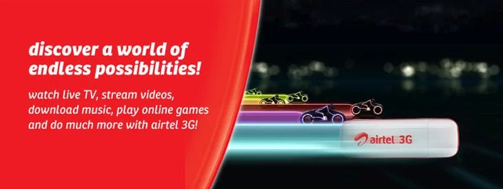 After RCom, Airtel slashed 3G Data Rates by 50%, Plans starts at Rs 124 for 1GB