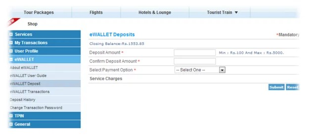 IRCTC brings in eWallet for Quick Train Ticket Booking, But Can't Book Tatkal Tickets