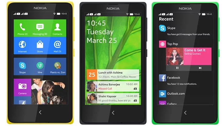 Nokia Forks Android to bring Nokia X, X+ and XL Smartphones - the X Family