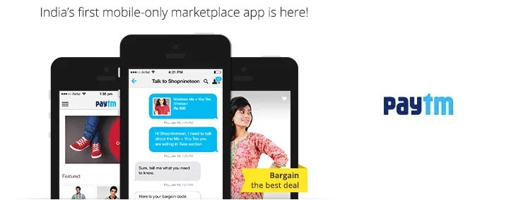 Paytm brings in Mobile Shopping app with Natural Bargaining