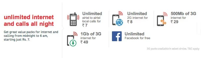 Airtel launches Night Store with Unlimited Voice and Data Plans