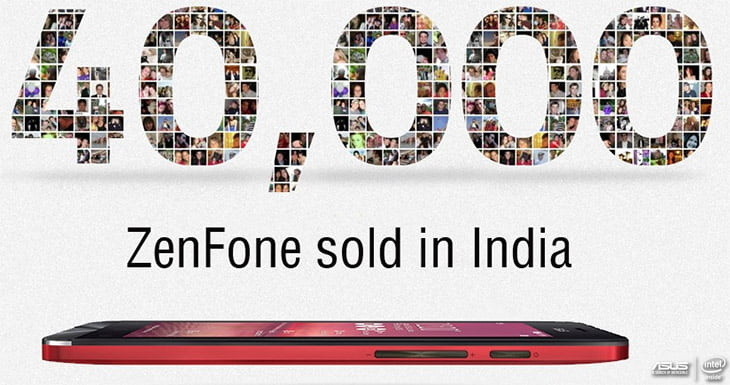 40,000 ZenFone devices sold in India within 4 Days - ASUS