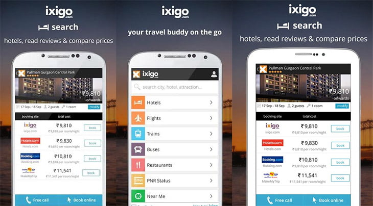 A complete Mobile app for Indian Travellers - ixigo [Review]