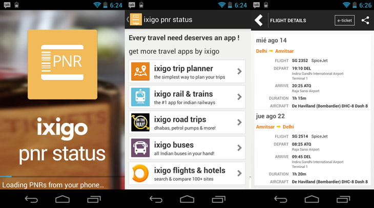 Smart and intuitive PNR Status App from ixigo [Review]