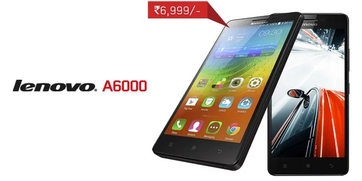 Lenovo launches ultra affordable 4G LTE android smartphone - Lenovo A6000 for Rs 6999