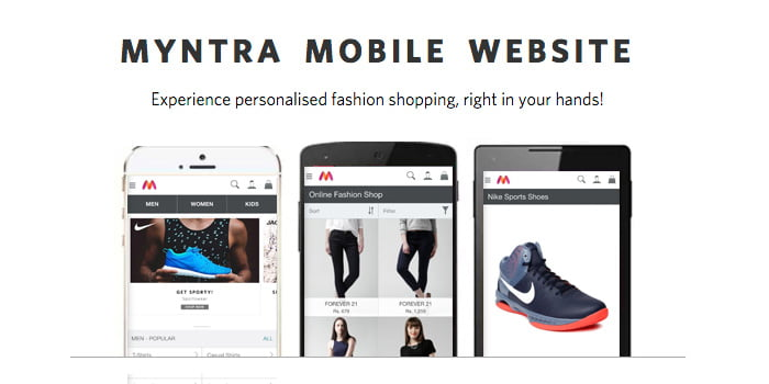 Enough to App Only model! Myntra Brings Back Mobile website