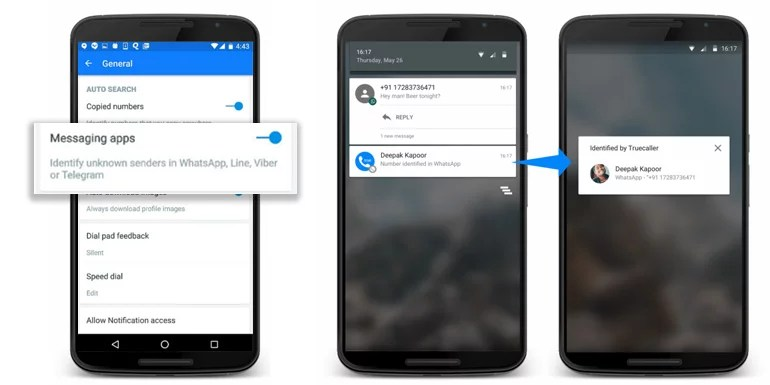 Truecaller now identifies unknown numbers on Whatsapp & other messaging apps