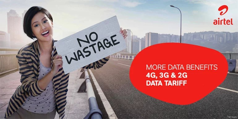 Airtel cuts 4G/3G/2G Data tariff rates, adds more data benefits