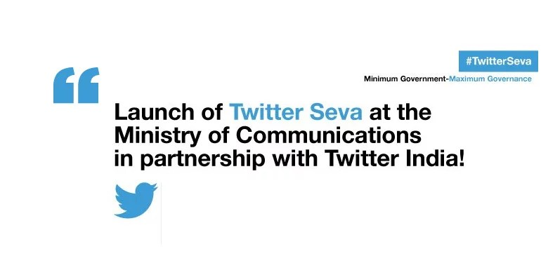 Tweet complaints about Telecom and Postal sector to Government - Twitter Sewa
