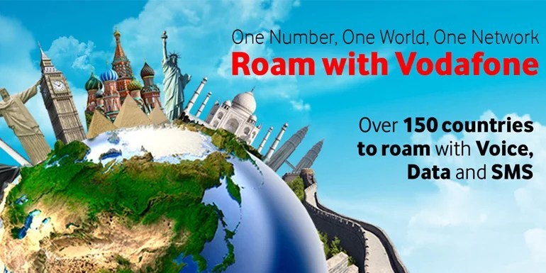 Vodafone daily International Roaming Pack - Free incoming calls, Outgoing calls at Rs 1 per min