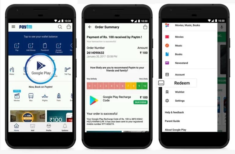 Google Play Credit Recharge now available with Paytm and FreeCharge