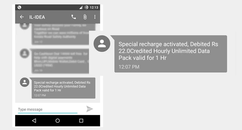 Idea Cellular launches Unlimited Hourly Data Plans - Get Unlimited 4G data at Rs 22 per hour